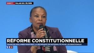 """Christiane Taubira : """"Ce qui est important ça n'est pas ma présence ou non au sein du gouvernement"""""""