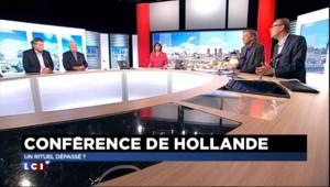 """Conférence de presse : un rituel dépassé, Hollande """"pris au piège de son engagement"""""""