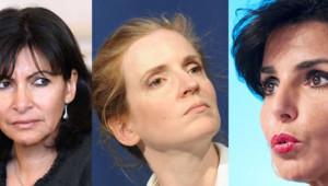 Anne Hidalgo, NKM et Rachida Dati, toutes trois candidates à la mairie de Paris.