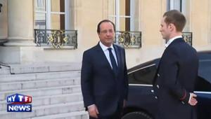 François Hollande peu avant l'annonce du gouvernement Valls