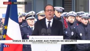 """Hollande aux forces de sécurité : """"Nous sommes la République"""""""