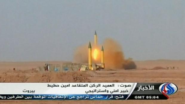 Tir de missiles iraniens dans le cadre de manoeuvres, 3/7/12