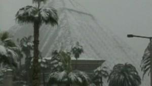 Las Vegas sous la neige, le 19 décembre 2008