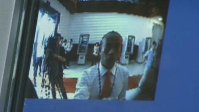 Le premier distributeur bancaire à reconnaissance faciale.