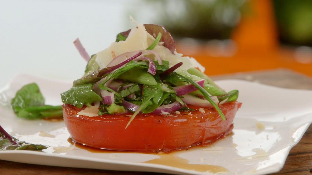 steak de tomate en salade petits plats en equilibre mytf1. Black Bedroom Furniture Sets. Home Design Ideas