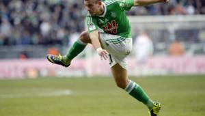 Saint-Etienne a facilement battu Reims (4-0), samedi au stade Geoffroy-Guichard.
