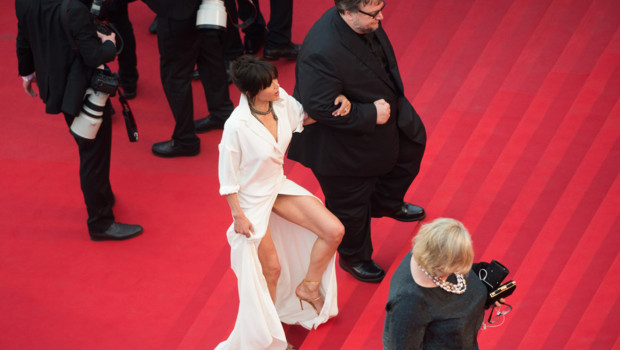 Sophie Marceau et Guillermo Del Toro à Cannes le 14 mai 2015