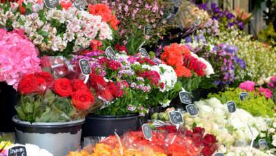 Bouquets-de-fleurs-fleuriste. Image d'illustration.