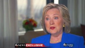 Hillary Clinton, le 8/9/15, sur ABC