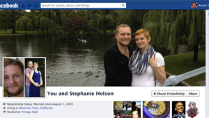 "La page couple (""friendship"") de Facebook"