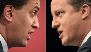 Photo-montage AFP : Ed Miliband (à. g.)/David Cameron (à d.)