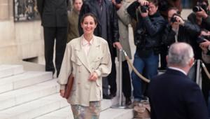 Ségolène Royal, le 8 avril 1992 à l'Elysée après le premier conseil des ministre du gouvernement Beregovoy