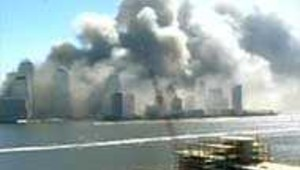 vue de manhattan après attentats wtc