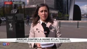 Marche contre la terreur et la haine à Bruxelles : les victimes des attentats au premier rang