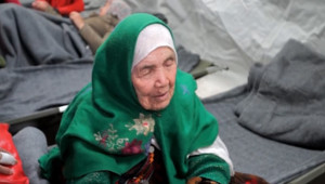Bibihal Uzbeki, dans un camp de réfugiés à Opatovac (Croatie)
