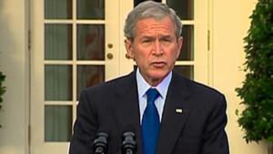 George W. Bush annonçant un nouveau train de mesures pour les banques (14 octobre 2008)