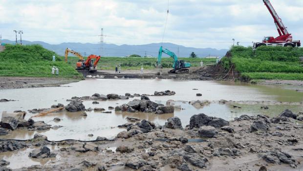 Japon : les dégâts des pluies torrentielles dans la préfecture de Fukuoka (15 juillet 2012)