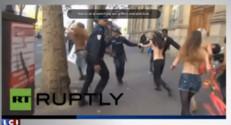 Course-pousuite avec des Femen