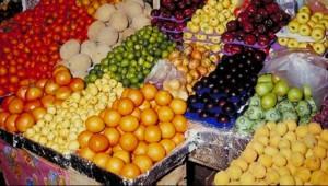 Fruits et Légumes sur un marché