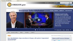 Le site de John Kitzhaber, gouverneur de l'Oregon