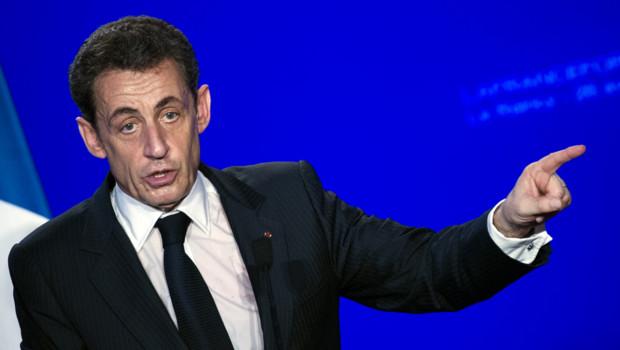 Nicolas Sarkozy au Raincy le jeudi 26 avril 2012.
