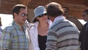Nicolas Sarkozy et Carla Bruni dans la vallée des Rois