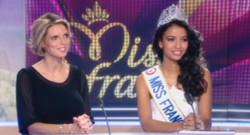 Sylvie Tellier et Flora Coquerel, Miss France 2014, invitées du 13h de TF1 le 9 décembre 2013.