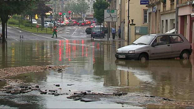 De violents orages ont provoqué des inondations à Nancy et dans ses environs le 22 mai 2012