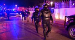 Des policiers devant la prison de Monterrey, au Mexique