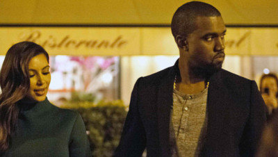 Kim Kardashian et Kanye West passent le week-end à Rome en octobre 2012.