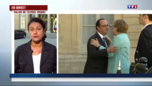 """Le 20 heures du 6 juillet 2015 : Dette grecque : après la réunion entre Merkel et Hollande, """"la perspective d'un Grexit s'éloigne un peu"""" - 663"""