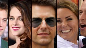 Robert Pattinson, Kristen Stewart, Tom Cruise, Kate Middleton et le prince William