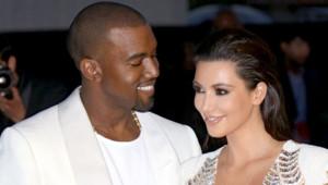 Kim Kardashian et Kanye West à Cannes lors de la présentation du court-métrage du rappeur en marge du festival de Cannes en mai 2012.