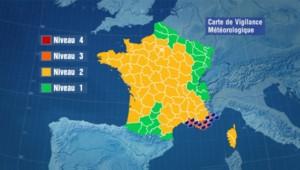 Carte de vigilance de Météo france (25/10/2011)