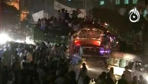Deux explosions ont eu lieu près du camion transportant l'ex Premier ministre/DR