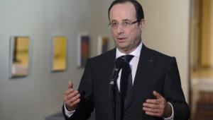 François Hollande lors d'un discours à Dijon (11 mars 2013)