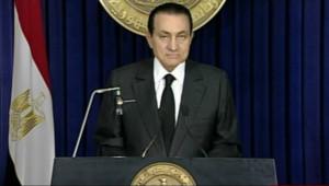 Hosni Moubarak, dans son discours télévisé du 10 février 2011 au soir