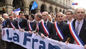 Le 20 heures du 1 mai 2014 : Premier d�l�u 1er mai pour les nouveaux maires FN - 260.706
