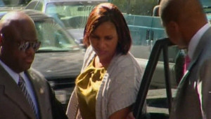 Nafissatou Diallo lors de son arrivée au tribunal de New York pour être entendue, le 27 juillet 2011.