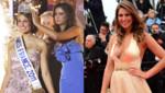 Laury Thilleman Miss France 2011 : à gauche le soir de son élection en décembre 2010, à droite au Festival de Cannes en mai 2013.