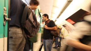métro ratp transport rame quai rer