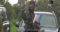 Capture d'écran de la vidéo de l'AFP où Abubakar Shekau annonce un califat islamique