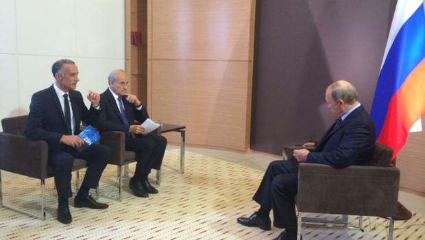 Interview de Vladimir Poutine par Gilles Bouleau et Jean-Pierre Elkabbach