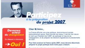 Mail UMP Sarkozy