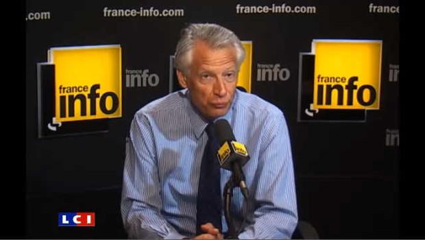 """Villepin, """"mon conseil au gouvernement"""""""