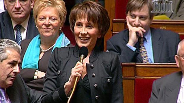 La députée UMP Chantal Brunel à l'Assemblée