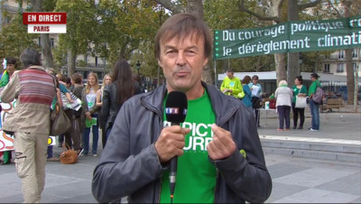"""Le 13 heures du 21 septembre 2014 : Climat : """"c'est le moment de v�t�pour Nicolas Hulot - 463.5679999999999"""