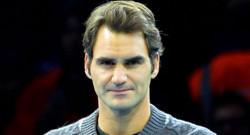 Roger Federer avant l'annonce de son désistement pour la finale