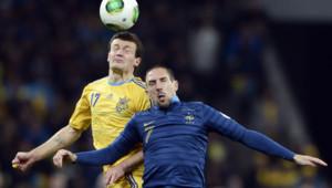 Franck Ribery lors du match Ukraine France