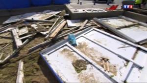 Le 13 heures du 12 août 2014 : Wimereux dans le Pas-de-Calais : des cabines de plage endommag� - 214.33009875488284